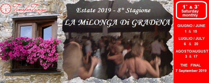 La milonga di Gradina estate 2019 con TimeforTango